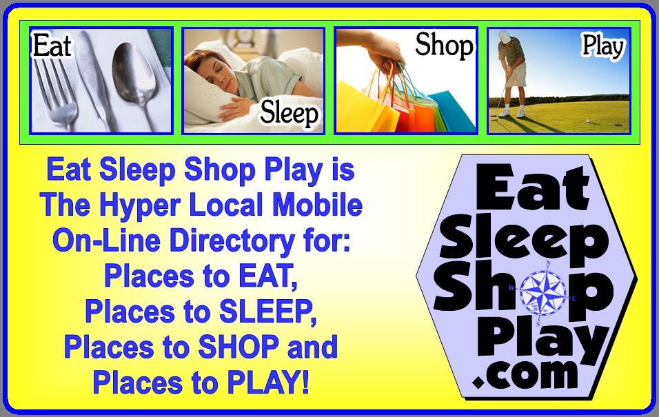 Eat Sleep Shop Play Logo